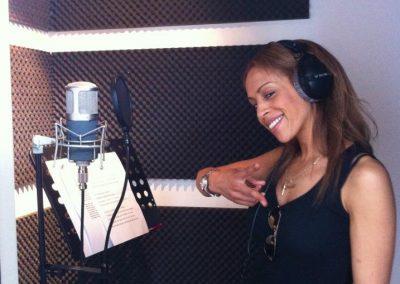Recording Glennis Grace